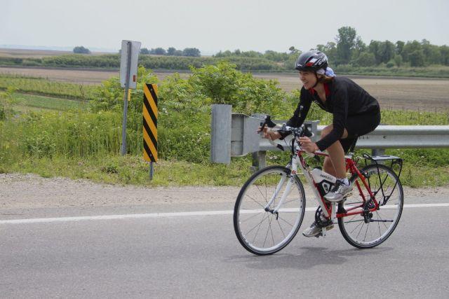 Jessica VandenBussche cycling