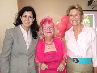 Photo of Camille Quenneville, Linda Chamberlain, and Susan Pigott at Linda's book launch