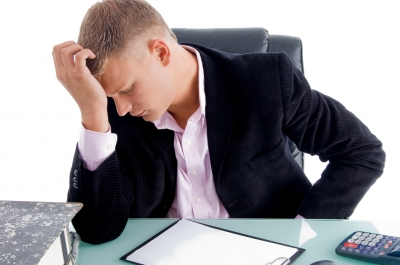 Image of stressed businessman