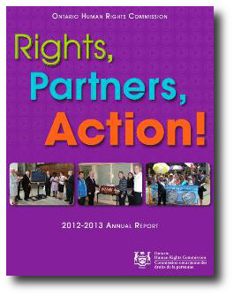OHRC Annual Report cover