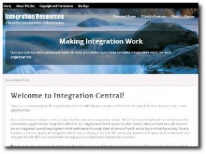 Image of Integration Resource website. Linked to website.
