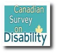 image with the text canadian survey on disability