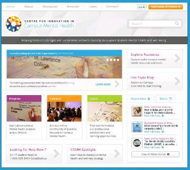 Image of CICMH website. Linked to website.