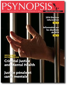 Special issue of Psynopsis on criminal justice and mental health