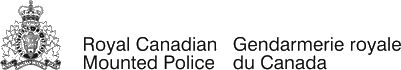 RCMP logo. Links to RCMP website