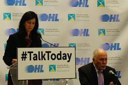 CMHA Ontario CEO Camille Quenneville announcing Talk Today