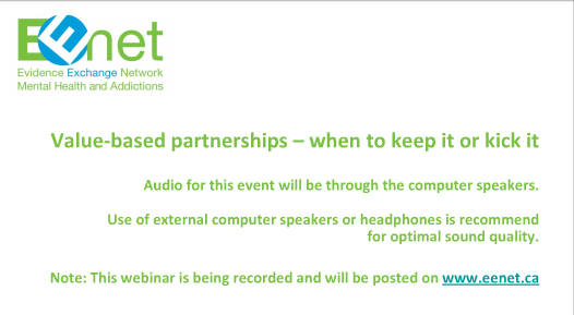 Value Based Partnership Webinar