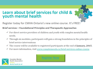 Complex Needs Brief Services Course flyer