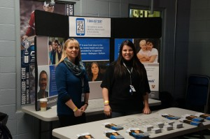 CMHA WWD Booth at Guelph Storm Game