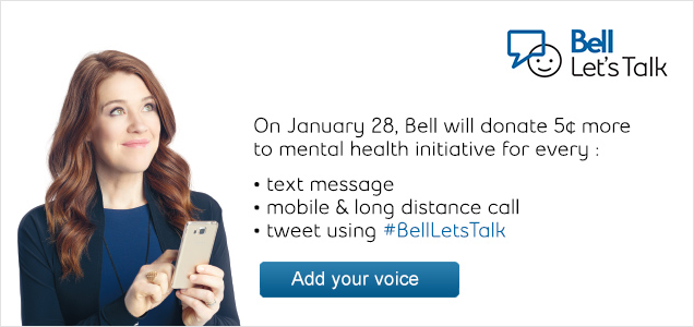 Bell Let's Talk 2015 is on January 28.