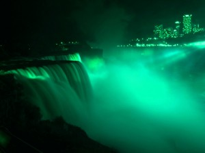 Niagara Falls in Green