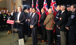 Labour Minister Kevin Flynn announced the proposed legislation Feb. 18, alongside Community Safety and Correctional Services Minister Yasir Naqvi