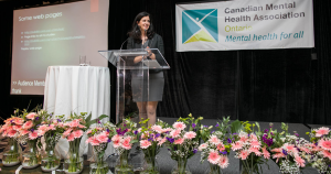 CMHA  Ontario CEO Camille Quenneville welcomed delegates and speakers to the pre-conference.