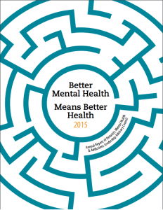 Cover of Mental Health Leadership Advisory Council annual report