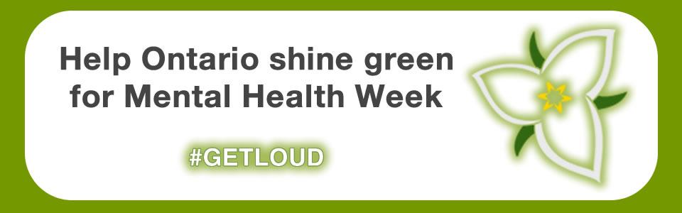 Shine green for Mental Health Week