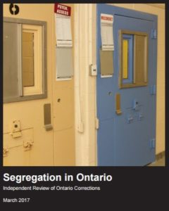 Segregation in Ontario: Independent Review of Ontario Corrections report cover image