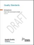 Cover of QI standards for schizophrenia care