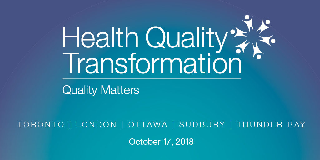 Health quality transformation conference graphic