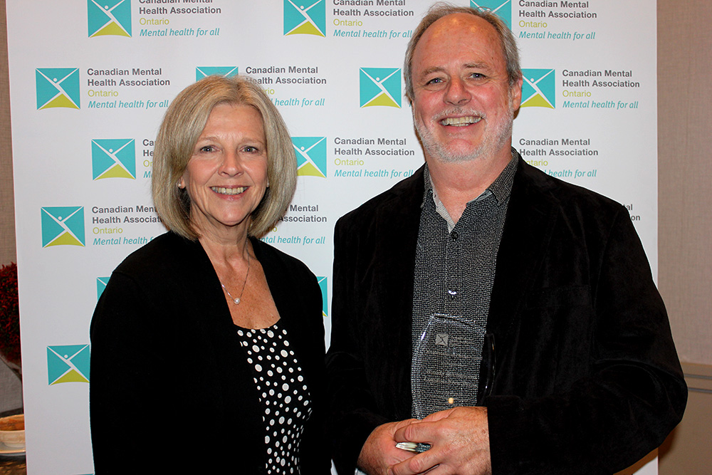 Beth Mitchell, CEO, CMHA Middlesex and Randy Richmond of the London Free Press