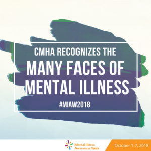 MIAW 2018 - CMHA recognizes many faces of mental illness - graphic