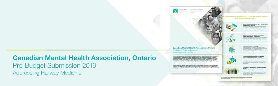 CMHA Ontario 2019 pre-budget submission addresses hallway medicine