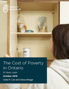 Cover image - The Cost of Poverty in Ontario