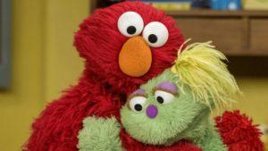 Image of Elmo hugging Karli