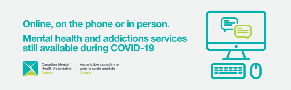 Mental Health and addictions services banner