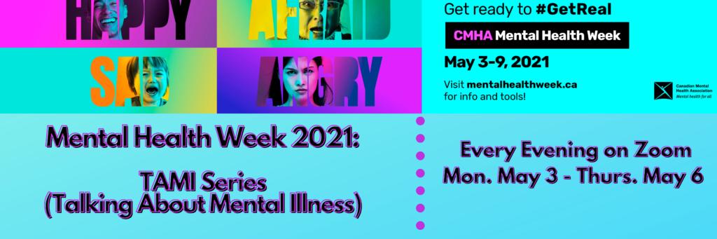 Banner advertising Talking About Mental Illness (TAMI)